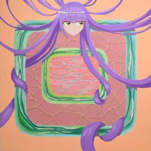 アクリル絵具、水彩紙116.7×116.7cm  2019